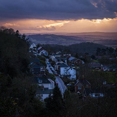 Art Print featuring the photograph Great Malvern Sunset by David Isaacson