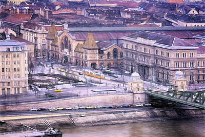 Brick Town Photograph - Great Market Hall Budapest by Joan Carroll