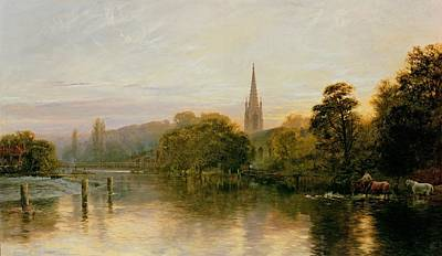 Peace Tower Wall Art - Painting - Great Marlow by George Vicat Cole