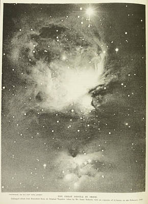 Astronomical Object Photograph - Great Nebula Of Orion by British Library