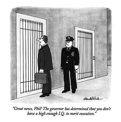 Punishment Drawing - Great News, Phil! The Governor Has Determined by J.B. Handelsman