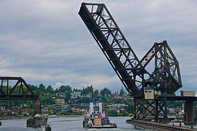 Photograph - Great Northern Railroad Bridge Ballard Seattle Washington Usa by Steven Lapkin
