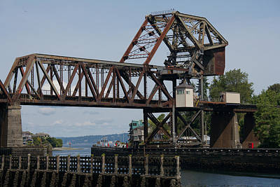 Photograph - Great Northern Railroad Bridge Ballard Washington by Steven Lapkin