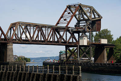 Photograph - Great Northern Railroad Bridge Seattle Washington Usa by Steven Lapkin