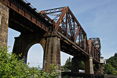 Photograph - Great Northern Railroad Bridge by Steven Lapkin