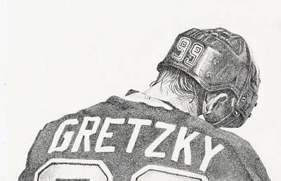 Hockey Art Drawing - Great by Paul Smutylo
