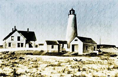Lighthouse Digital Art - Great Point Lighthouse Nantucket by Bill Cannon
