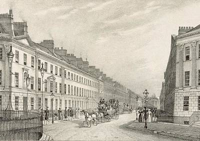 Horse Drawing - Great Pultney Street, Bath, C.1883 by R. Woodroffe