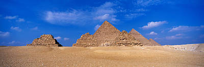 Ancient Culture Photograph - Great Pyramids, Giza, Egypt by Panoramic Images