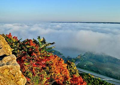 Great River Road Fog Art Print