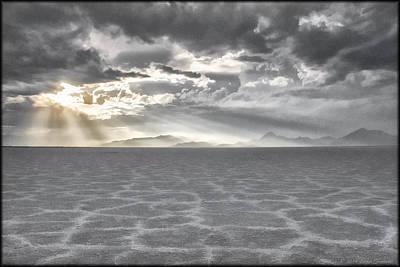 Photograph - Great Salt Flats by Erika Fawcett