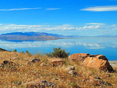 Photograph - Great Salt Lake by Dan Miller