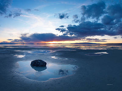 Photograph - Great Salt Lake by Leland D Howard