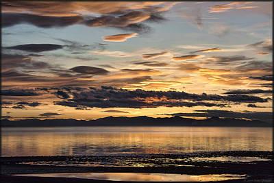 Photograph - Great Salt Lake Sunset by Erika Fawcett