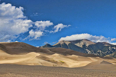Photograph - The Great Sand Dunes National Park 2 by Allen Beatty