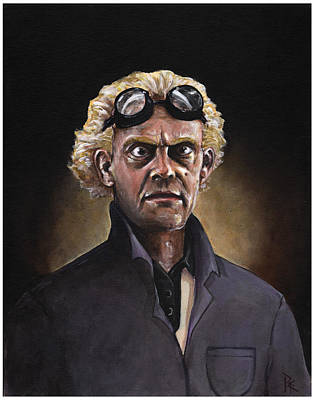 Mad Scientist Painting - Great Scott by Richardson Comly