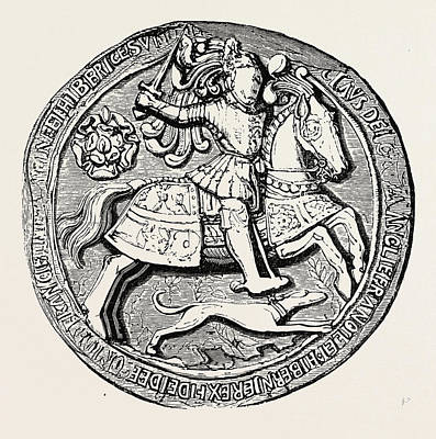 Seals Drawing - Great Seal Of Henry Viii Obverse by English School