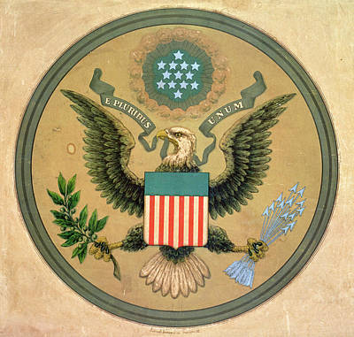 Golden Eagle Photograph - Great Seal Of The United States, C.1850 Litho by Andrew B. Graham