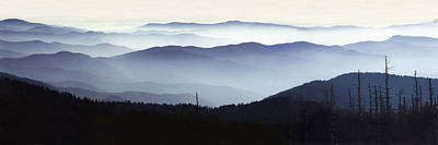 Photograph - Great Smokey Mountain Vista by Randall Nyhof