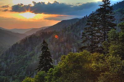 Photograph - Great Smoky Mountain Sunset by Coby Cooper