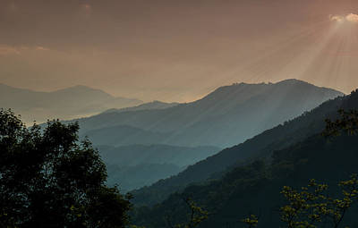 Art Print featuring the photograph Great Smoky Mountains Blue Ridge Parkway by Patti Deters