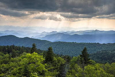 Great Outdoors Wall Art - Photograph - Great Smoky Mountains From Blue Ridge Parkway by Dave Allen