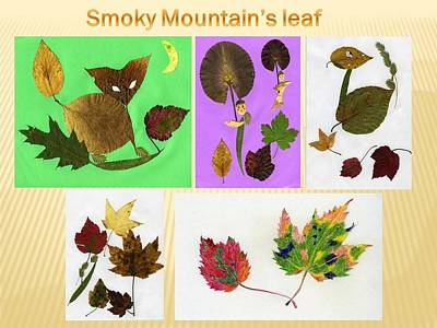 Art Print featuring the painting Great Smoky Mountain's Leaf by Ping Yan
