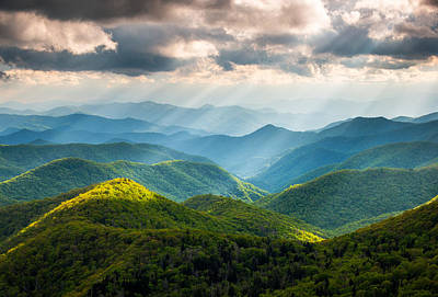 Rays Photograph - Great Smoky Mountains National Park Nc Western North Carolina by Dave Allen