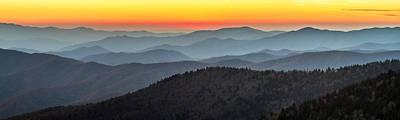 Great Smoky Mountains National Park Sunset Art Print