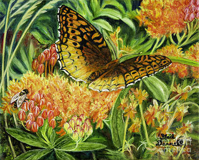 Great Spangled Fritillary Butterfly Original by Gail Darnell
