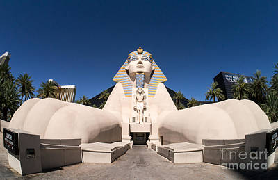 Great Sphinx Of Giza Luxor Resort Las Vegas Print by Edward Fielding