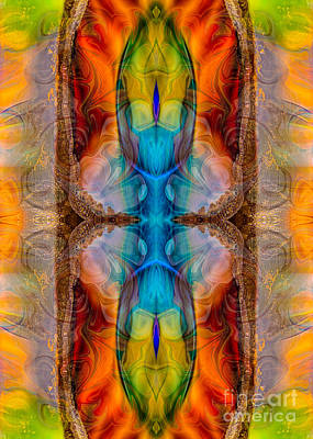 Atomic Mixed Media - Great Spirit Middle Panel Abstract Designs By Omaste Witkowski by Omaste Witkowski