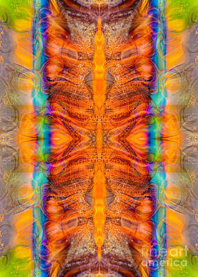 Atomic Mixed Media - Great Spirit Side Panel Abstract Designs By Omaste Witkowski  by Omaste Witkowski