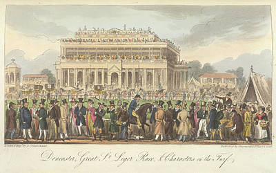 Race Horse Photograph - Great St.leger Horse Race by British Library