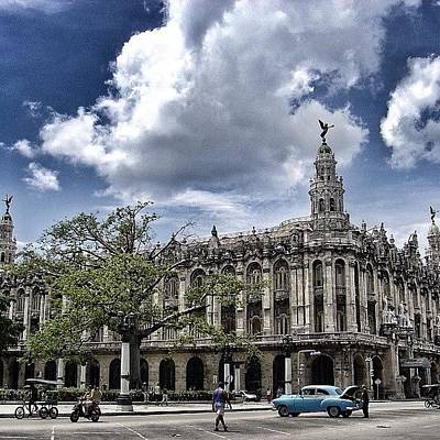 Iger Wall Art - Photograph - great Theater Of Havana ( Built On by Joel Lopez