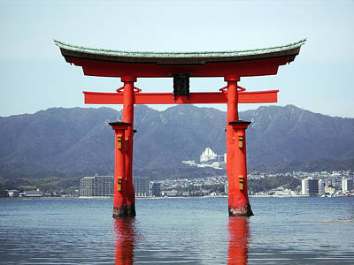 Miyajima Photograph - Great Torii Gate Of Miyajima by Daniel Hagerman