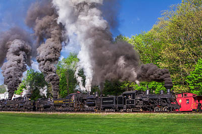 Photograph - Great Train Race Cass Scenic Rr by Mary Almond