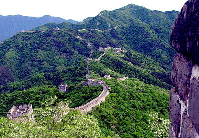 Photograph - Great Wall Of China - Beijing - Mu Tian Yu by Jacqueline M Lewis