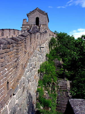Photograph - Great Wall Of China At Mu Tian Yu by Jacqueline M Lewis