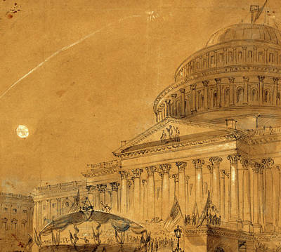 Chinese American Drawing - Great War Meeting At Washington, District Of Columbia by Quint Lox