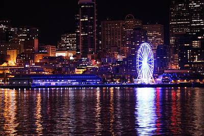 Photograph - Great Wheel In Seattle by Donald Torgerson