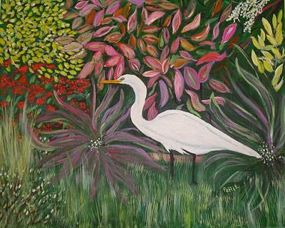 Painting - Great White Egret by Patti Lauer