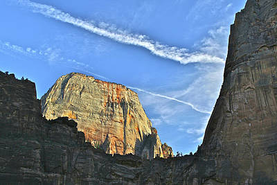 Photograph - Great White Throne Zion by SC Heffner