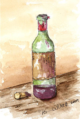 Great Wine Time Art Print
