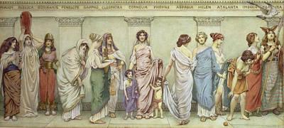 Helene Painting - Great Women Of Antiquitymiriam by Frederick Dudley Walenn