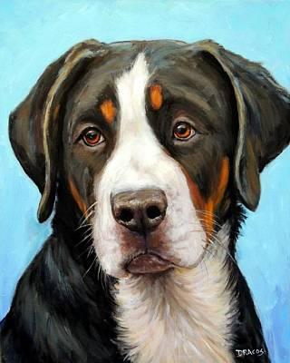 Greater Swiss Mountain Dog Pup Art Print