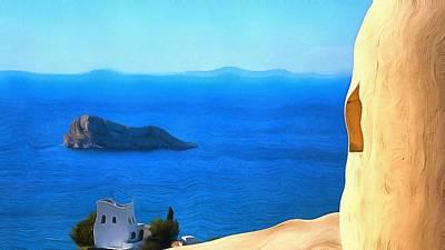 Grecian Blue Art Print by Mick Flynn