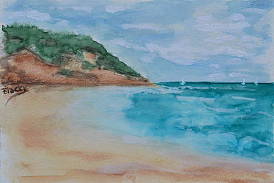 Painting - Grecian Sea by Donna Blackhall