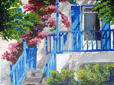 Painting - Greec House by Soumya Bouchachi