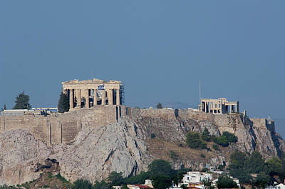 Acropolis Photograph - Greece, Athens Downtown Athens View by Cindy Miller Hopkins